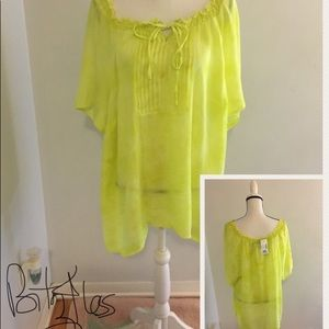 Yellow Two Tones See through Summer Shirt